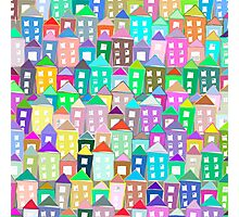 Houses . Hand drawn pattern Photographic Print