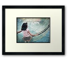 Bubble Girl Framed Print
