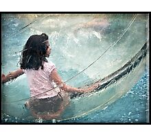Bubble Girl Photographic Print