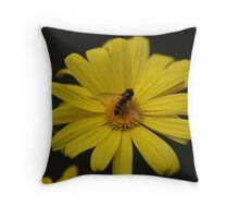 Busy Bumble Bee Throw Pillow