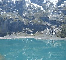 The Oeschinen Lake near Kandersteg by MiRoImage