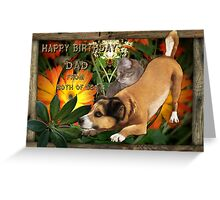 Birthday Wishes From Both Of Us to Dad Greeting Card