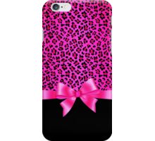 Girly Pink and Black Jaguar Print Elegant & Classy  iPhone Case/Skin