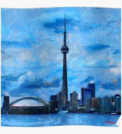CN Tower Toronto Poster