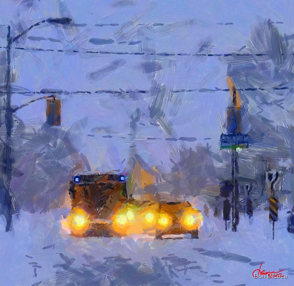 Blazing winter on Bathurst Street by DiNovici