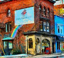 Red Building in Toronto Downtown West by DiNovici