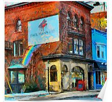 Red Building in Toronto Downtown West Poster