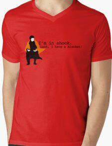 Sherlock Shock Blanket Mens V-Neck T-Shirt