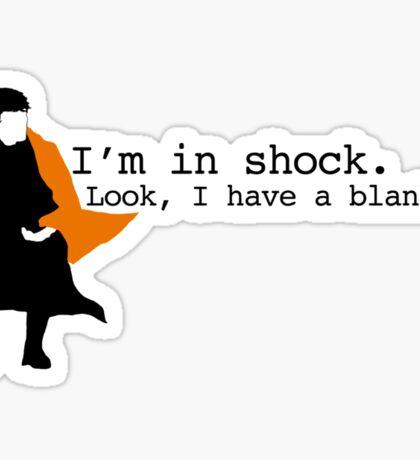 Sherlock Shock Blanket Sticker