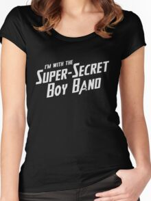 I'm with the Super-Secret Boy Band Women's Fitted Scoop T-Shirt