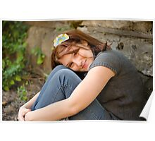 Anna by Stone Wall Poster