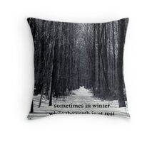 Sometimes in Winter Throw Pillow