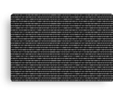 The Binary Code DOS version Canvas Print
