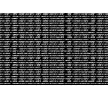 The Binary Code DOS version Photographic Print