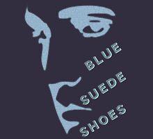 Blue Suede Shoes Elvis silhouette for dark garments Unisex T-Shirt