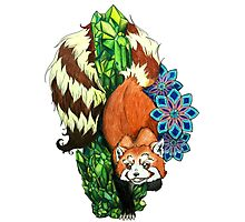 Red Panda In The Crystal Forest Photographic Print