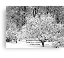 Winter's Bride Canvas Print