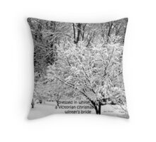 Winter's Bride Throw Pillow