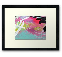 Pink and aqua abstract mess Framed Print