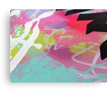 Pink and aqua abstract mess Canvas Print
