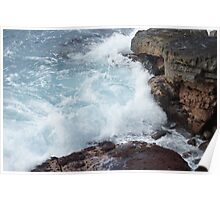 Waves, Apua Point,  Hawaii Volcanoes National Park Poster