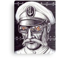 Captain colored pencils drawing Metal Print