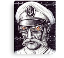 Captain colored pencils drawing Canvas Print