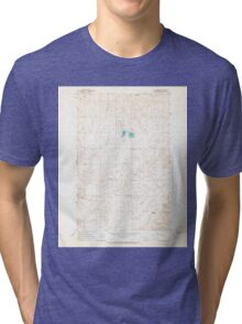 USGS Topo Map Washington State WA St Andrews 243985 1965 24000 Tri-blend T-Shirt