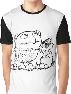 Snow Owl Griffin Graphic T-Shirt