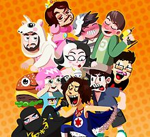 Grump gang and co by Steff Egan