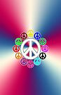 retro surrounded by peace phone by dedmanshootn