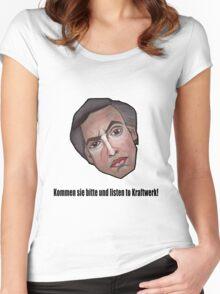 Kommen sie bitte und listen to Kraftwerk! - Alan Partridge Tee Women's Fitted Scoop T-Shirt