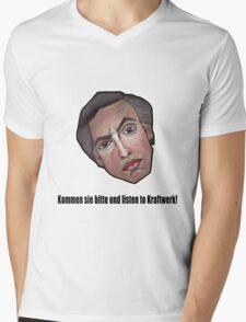 Kommen sie bitte und listen to Kraftwerk! - Alan Partridge Tee Mens V-Neck T-Shirt