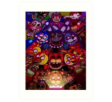Five Nights at Freddys Art Print