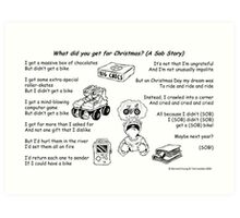 What did you get for Christmas? Art Print