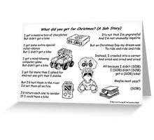 What did you get for Christmas? Greeting Card