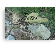 By Definition!  Peter Canvas Print
