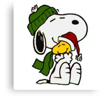 Christmas snoopy Canvas Print