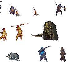 Dark Souls Pixel Stickers by zedotagger