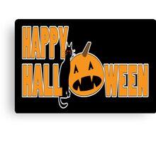happy halloween t Canvas Print