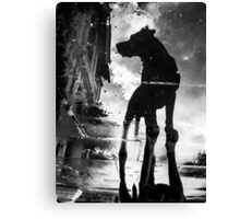 My #dog filby reflected in a puddle today taken on my #galaxynexus Canvas Print