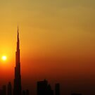 Burj Khalifa Sunset by Omar Dakhane