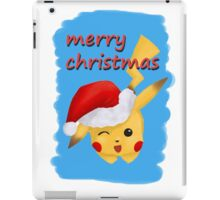 cute pokemon santa  iPad Case/Skin