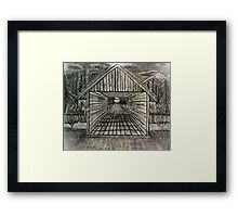 """Winter Bridge""  by Carter L. Shepard Framed Print"