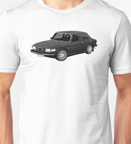 SAAB 99 illustration black Unisex T-Shirt