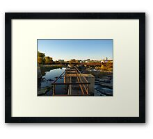 Upper Edge of the Sioux Falls Framed Print