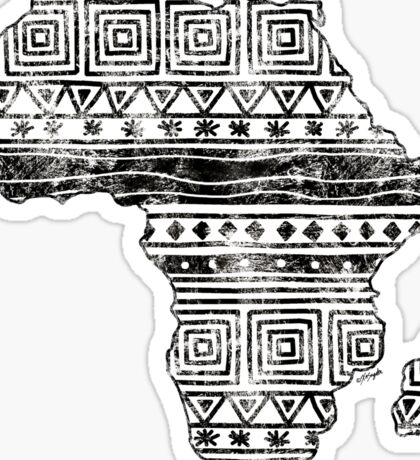 Patterned Map of Africa  Sticker