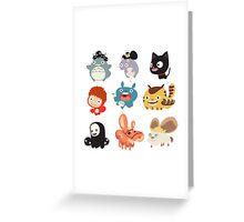 all caracter studio gibli Greeting Card