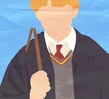 Harry Potter I Minimalist Poster - Ron by Jessica Slater