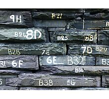 Numbers on Slate Photographic Print